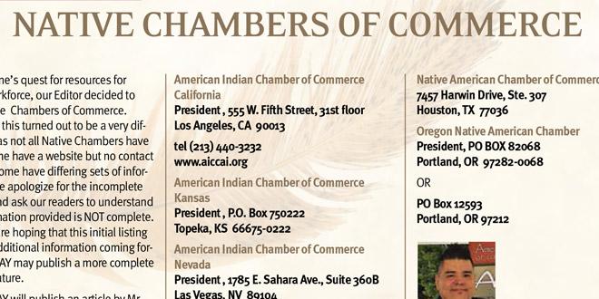 Native Chambers of Commerce