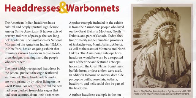 Headdresses & Warbonnets