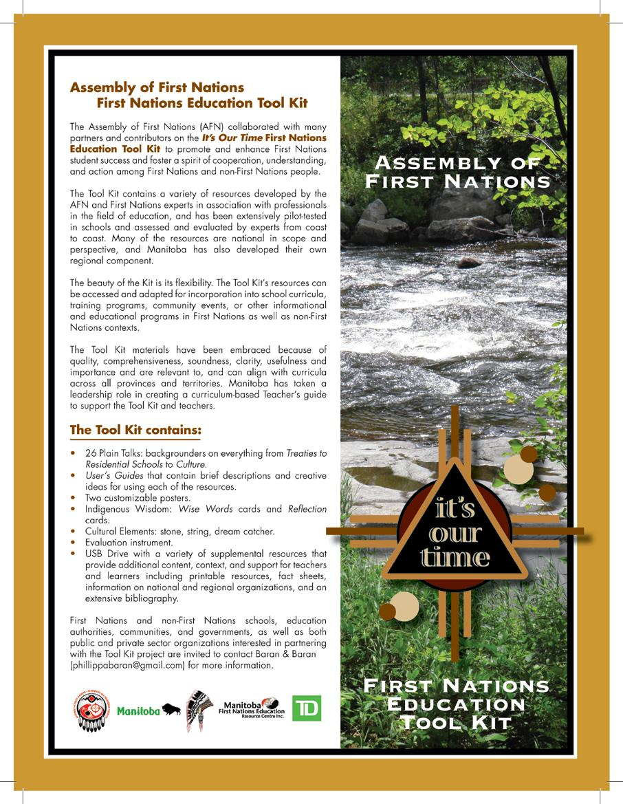 Assembly of First Nations – First Nations Education Tool Kit